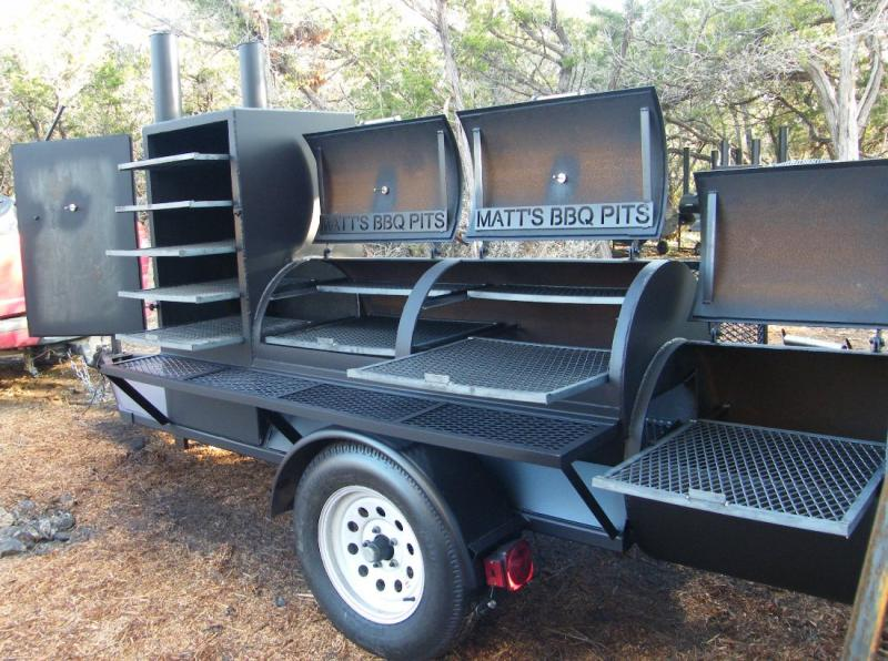 Matt S Bbq Pits Llc And River Cottage Tables Trailer Pits