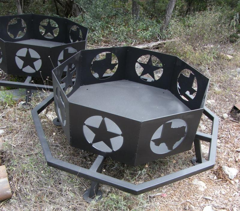 36 Inch Texas Fire Pit - Matt's BBQ Pits, LLC And River Cottage Tables - Fire Pits