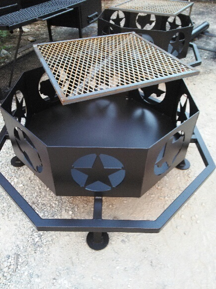 Texas Fire Pit 36 with rack - Matt's BBQ Pits, LLC - Texas Fire Pits