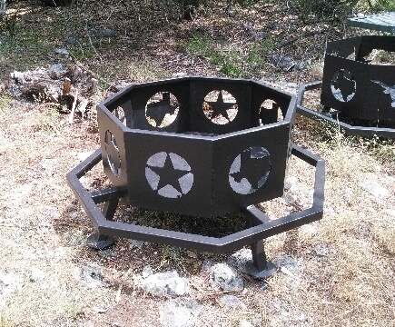 Texas Fire Pit - Matt's BBQ Pits, LLC And River Cottage Tables - Fire Pits